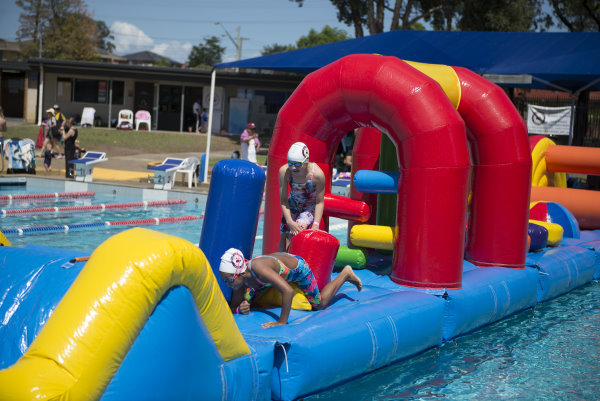 The club hired an inflatable for the day and it was enjoyed by everyone who attempted to become a Merrylands Ninja Warrior.
