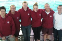 Merrylands Amateur Swimming Club's Australian Masters National Titles team.